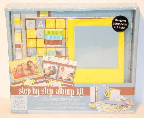 1 X Step By Step Album Kit 8x8 Blue Box Kit (Kit Scrapbook Colorbok)