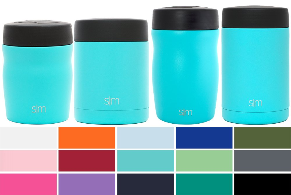 Simple Modern Rover - 16oz Rover Food Jar - Vacuum Insulated Thermos 18/8 Stainless Steel Leak Proof Hydro Food Storage Container Flask - Caribbean by Simple Modern