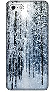 LKPOP White Snow Beautiful Cases / Covers Best Gift For Christmas Fashion Lovely Present Different Cell Phone Case For iPhone 5C No 6