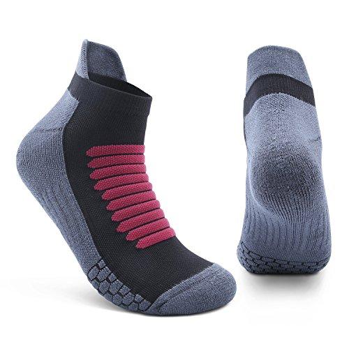 Athletic Socks 2 Pairs Mens High Performance Ankle Socks for Running, Soccer, Basketball, Football