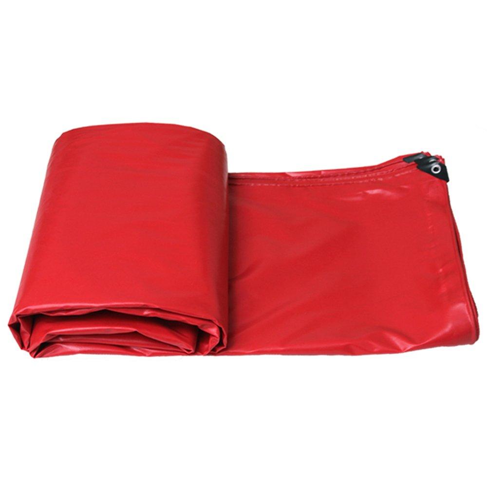 Rouge 23M Tarpaulin HUO BÂche Forte, Couverture De Pluie Anti-UV Imperméable Double-Face, Oeillets en Aluminium Durables - 520g   M2 (Couleur   Rouge, Taille   2  3M)