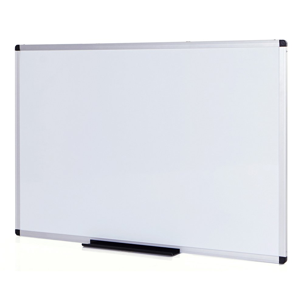 VIZ-PRO Dry Erase Board/Whiteboard, Non-Magnetic, 8' x 4', Wall Mounted Board for School Office and Home