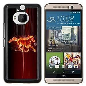 - MYTHOLOGY ART FIRE FAIRYTALE CREATURE HORSE - Caja del tel¨¦fono delgado Guardia Armor- For HTC One M9+ / M9 PLUS Devil Case