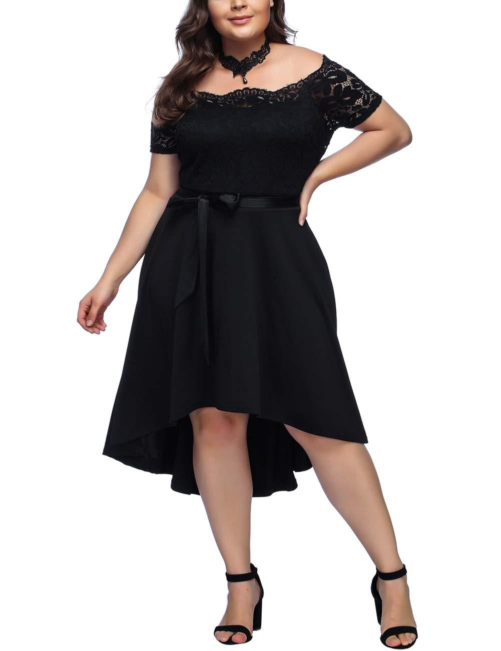 FeelinGirl Mujer Vestido de Noche Encaje Largo Traje Talla Extra Grande product image
