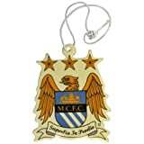 football air freshener - Manchester City FC Official Football Crest Car Air Freshener (One Size) (White/Gold/Blue)