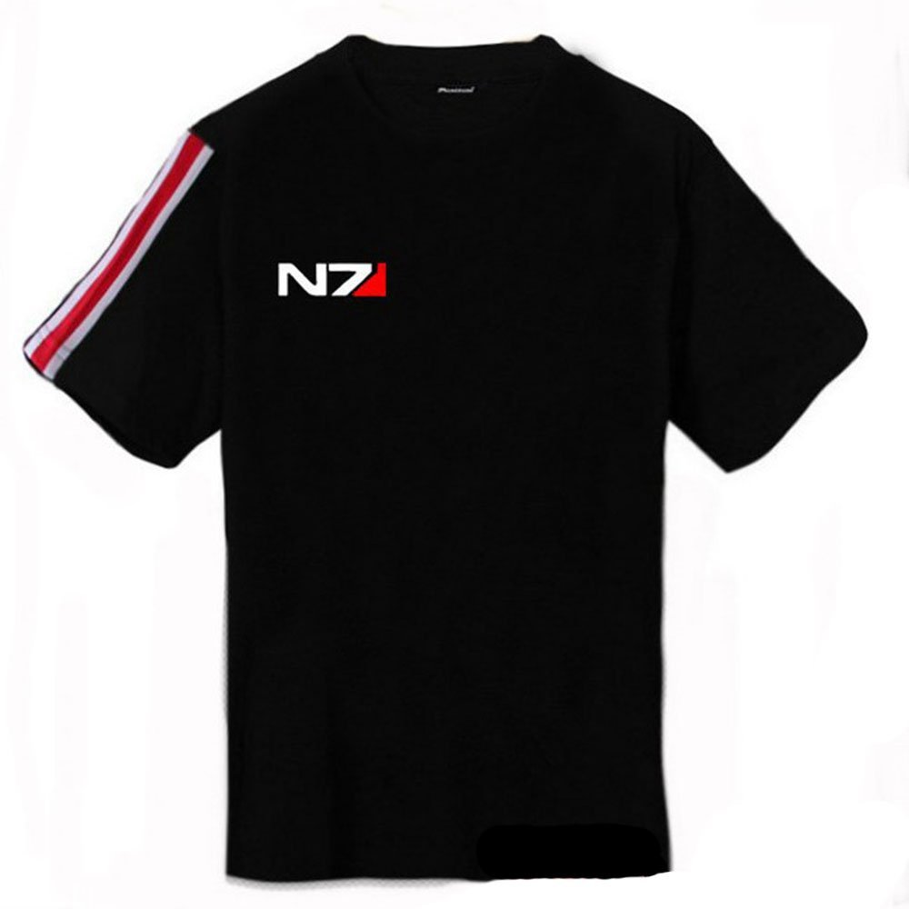 Kalendone N7 Mass Effect 3 T Shirt Systems Alliance Military Emblem Game Tee T-Shirt Black XXL Christmas Gift