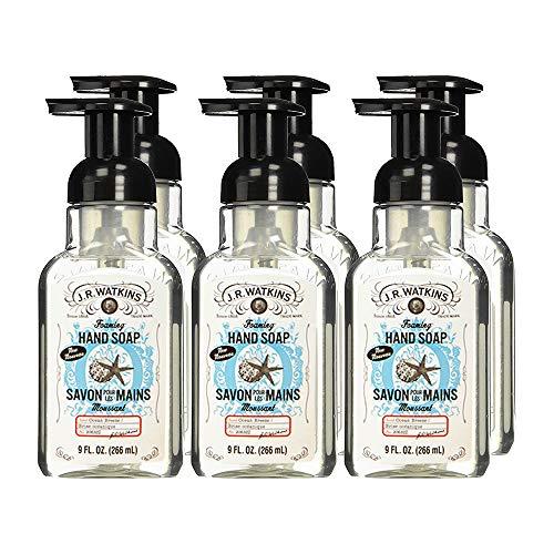 J.R. Watkins Hand Soap, Foaming, 9 fl oz, Ocean Breeze (6 pack)