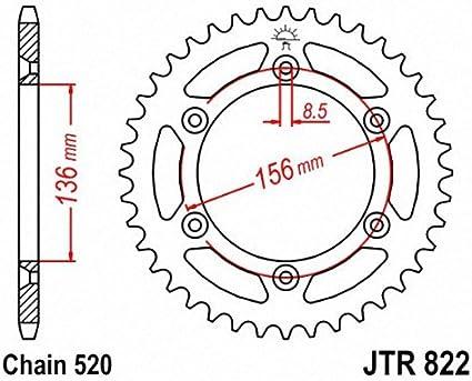 JT Sprockets JTA822.48 48T Aluminum Rear Sprocket
