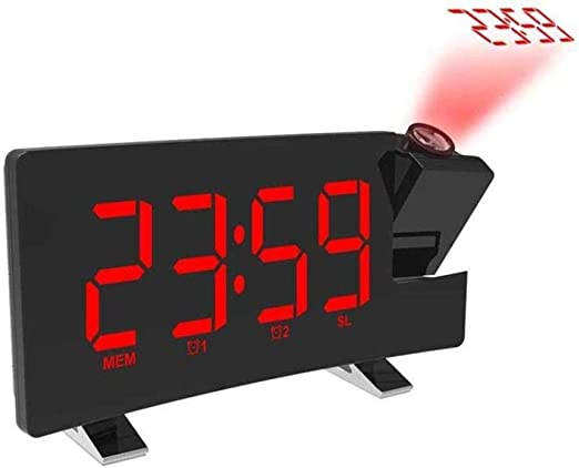 DZXYW Reloj Despertador Despertador Blanco LED Digital Reloj ...