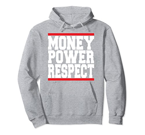 Unisex Urban Teez Money Power Respect hustler hoodie Large Heather - Sweatshirt Hustler