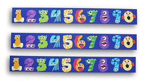 - Classroom Decor Monster Numbers Patterned Wall Borders - Set of 14