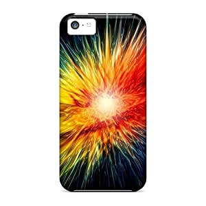 LJF phone case LatonyaSBlack Fashion Protective Colorful Abstract Case Cover For ipod touch 5