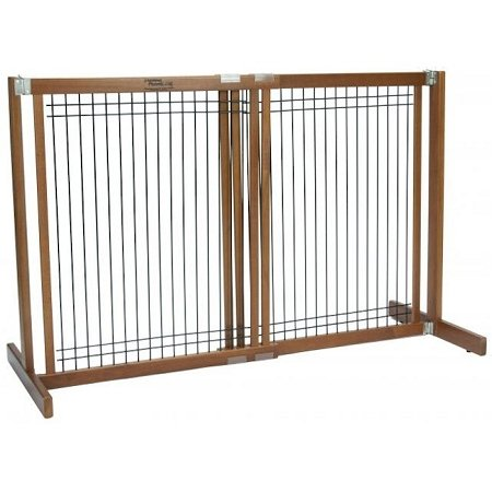 30'' Kensington - Large Free Standing Wood/Wire Pet Gate - Artisan Bronze by Dynamic Accents