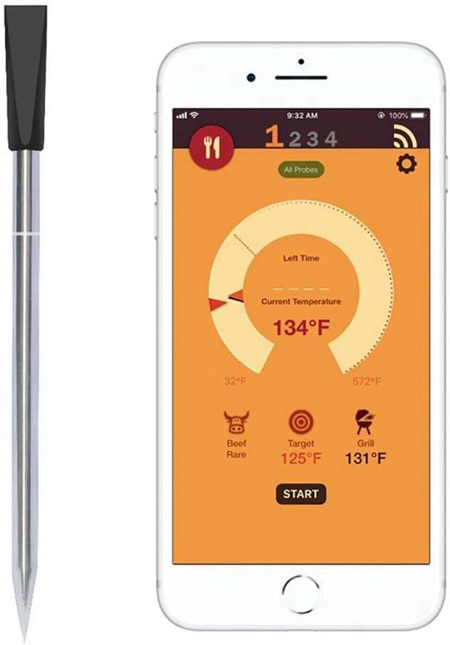 Compra LaMei Yang Termómetro Digital para Carne de sonda, termómetro inalámbrico para Cocina y Barbacoa, Cocina Carne Perfectamente a través de Bluetooth y WiFi, Funciona en Todos los teléfonos Inteligentes en Amazon.es
