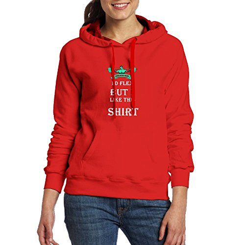 I'd Flex But I Like This Shirt Womens Casual Slim Fit Long Sleeve Color Block Fashion Logo Hoodie With Design Line Red
