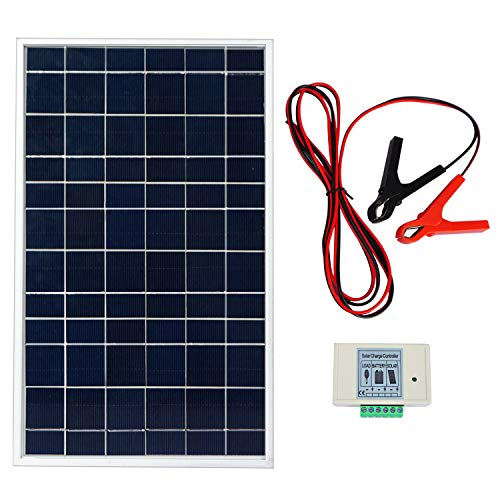Solar Kit 10w (ECO-WORTHY 10W PV Polycrystalline Solar Panel System kit W/ 3A Charge Controller & 30A Battery Clips)