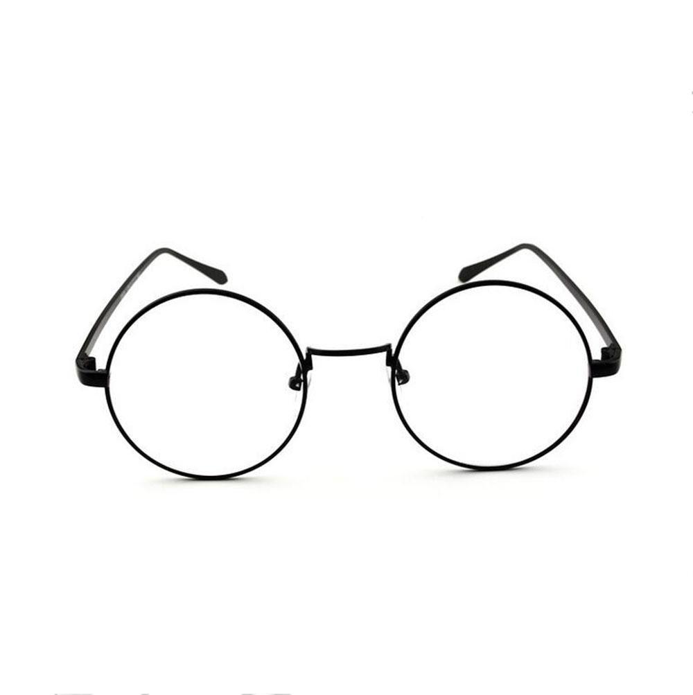 Z&YQ claro lente gafas aviador espejo miopía metal marco gafas decorativas , black