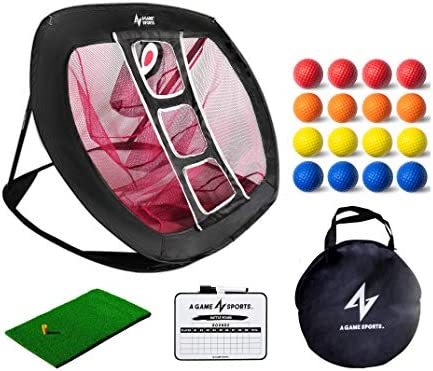 A Game Sports Golf Chipping Net Pop Up Golf Chipping...