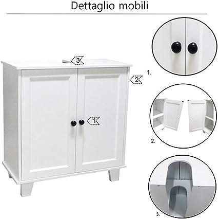 Mobile da Bagno armadietto in Legno lavandino armadietto sottolavabo da Bagno da Pavimento armadietto QMYS