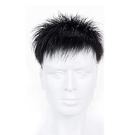 Peluca Hombre Cabello real Cabeza de cabello Bloque de ...