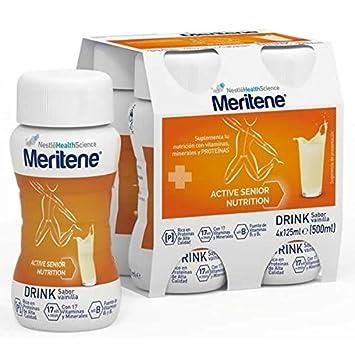 NESTLE Meritene Activ Sabor Vainilla 4 x 125 ml: Amazon.es: Salud y cuidado personal