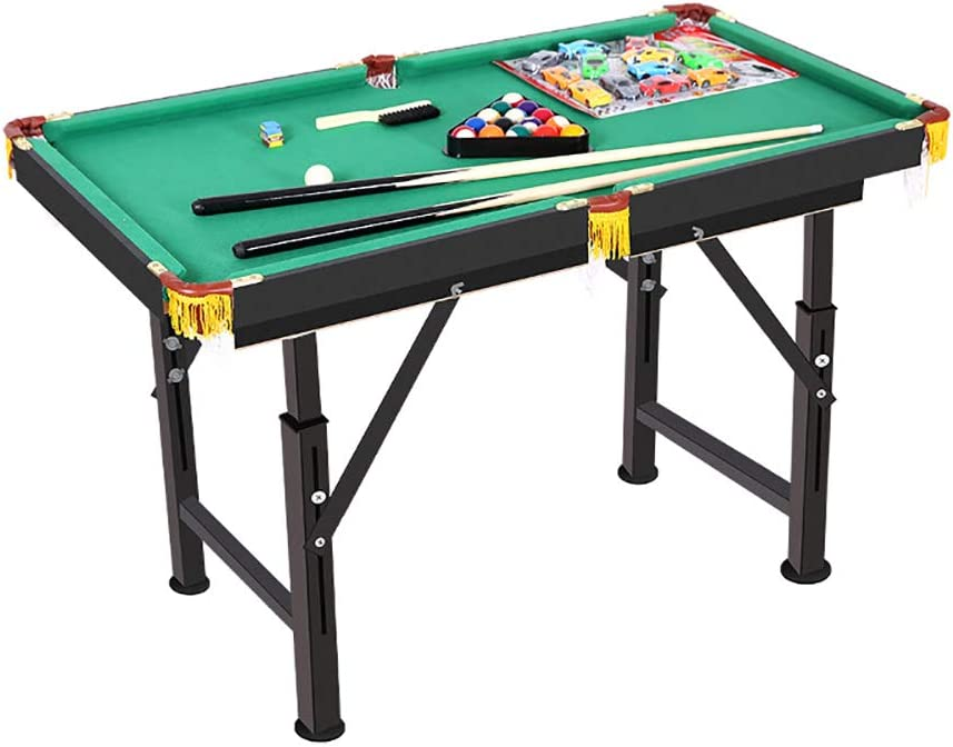 HECHEN Deluxe Mini Table Top Pool Table Billar Snooker Family Fun Juego - Completo con 15 Bolas, Cue Ball, 2X Tacos, Tiza, Cepillo de Tela y triángulo - 120X63 cm: Amazon.es: Deportes