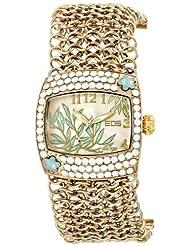 EOS New York Women's 95LGLDWHT Empress Swarovski Accent Watch