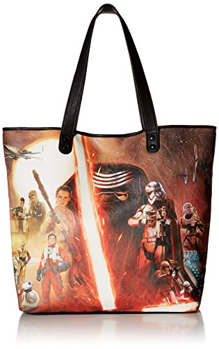 Force Photo (Loungefly The Force Awakens Movie Poster Photo Tote Bag, Multi, One Size)