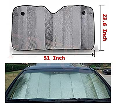 Sun Shade Foldable Metallic Visor Wind Shield Reflective Shade