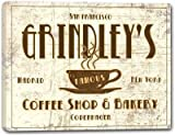 GRINDLEY'S Coffee Shop & Bakery Stretched Canvas Sign
