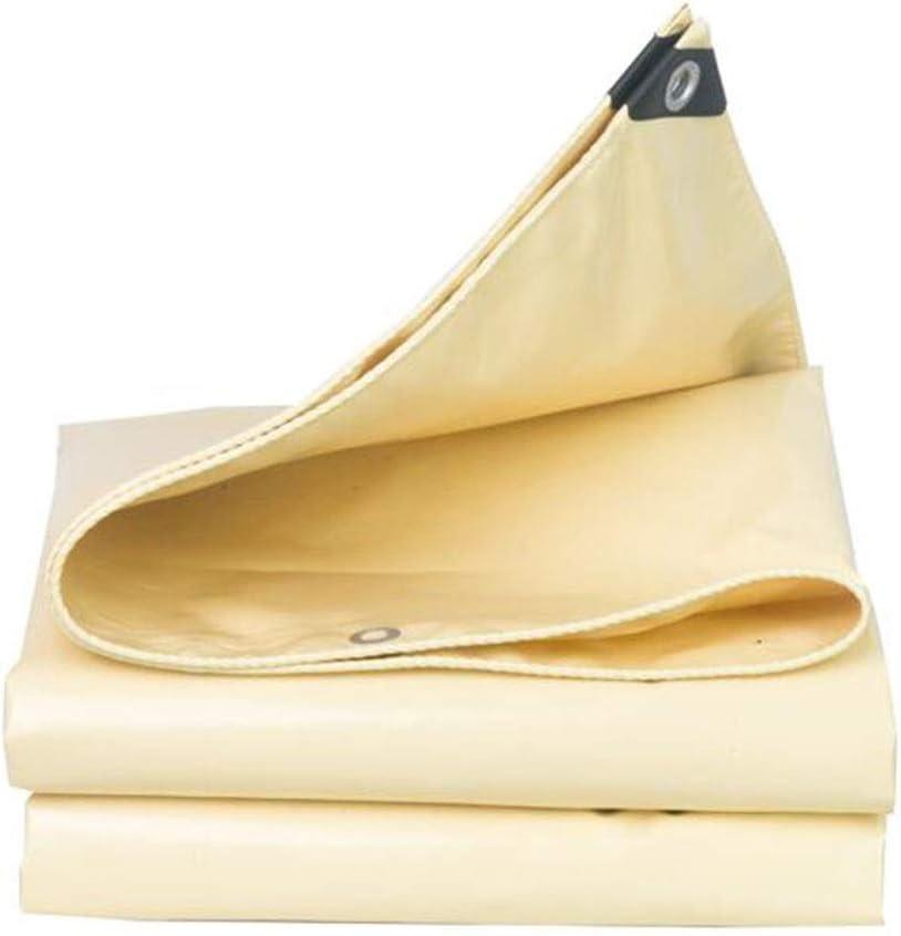 XUERUI シェルター ヘビーデューティ 防水 シートカバー キャンプ シェルター ターポリン アウトドア ルーフ 防風 厚くする 防水シート スポーツ アウトドア (Color : Beige, Size : 6x7m) Beige 6x7m