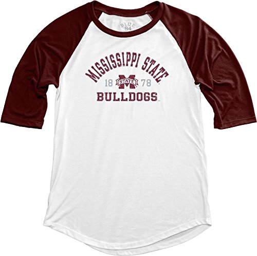 (NCAA Mississippi State Bulldogs Adult Women NCAA Women's Teagan Baseball Tee,Medium,Maroon)