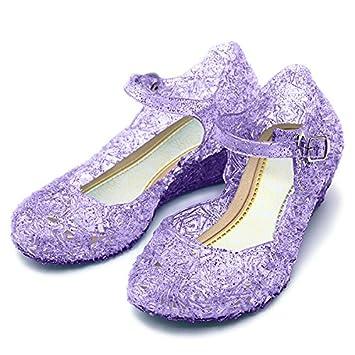 Katara Zapatos de Princesas para Niña Sandalias de Tacón Disfraz Frozen 75eaf16aa35