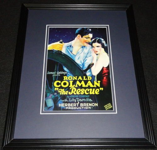 The Rescue Framed 11x14 Poster Display Official Repro Ronald Colman