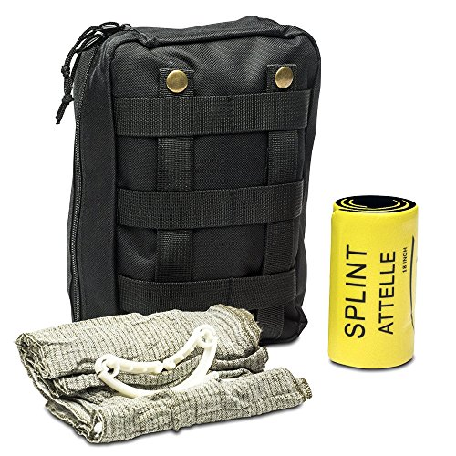 First Aid Splints (First Aid Kit - Includes Splint & Israeli Bandage - Fully Stocked for IFAK, Military, First Responder, Medic Bag, Tactical, Survival, Camping, Hiking)