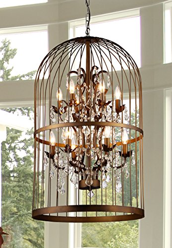 Whse of Tiffany RL8058D Rinee III Cage (Regal Nine Light Chandelier)