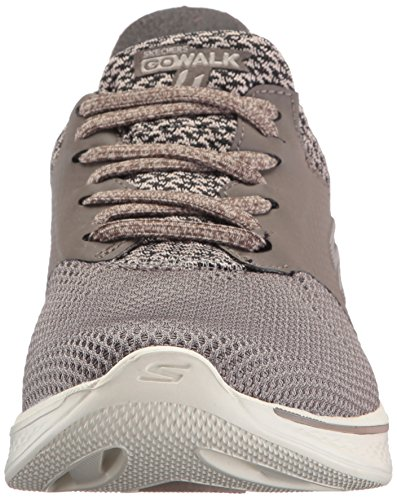 Skechers Women's Go Walk 4-Sustain Trainers, Bkgy, Varies Brown (Taupe)