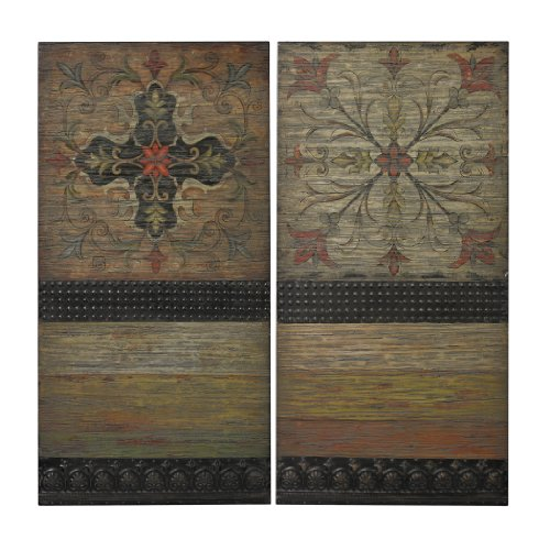 Sterling Brichell Hand-painted Spanish Tiles on Wooden Panels (Art Spanish Tile)