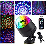 Allness Group LED Neon Night Light, Sound Activated crystal Party Lights 7 Colors RGB light bulb DJ Disco ball with USB and Switch Stage lights for Outdoor Car Room dance Birthday Bar Club Pub Xmas