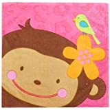 Amscan Beverage Napkins Monkey Love Party Accessory
