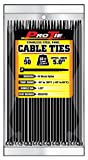 Pro Tie B5SSP50 5.5-Inch Stainless Steel Pawl Cable Tie, UV Black Nylon, 50-Pack