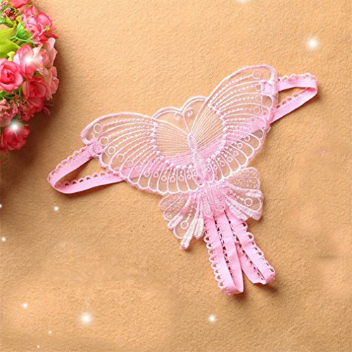Transparent Pantalon C T Taille Sous vêtements Papillon Basse Féminin 1411 String Xqqq Tissé Creux RnX8O8czq