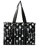 N. Gil All Purpose Organizer 18'' Large Utility Tote Bag 2 (Arrow Black)