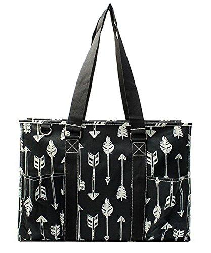 N. Gil All Purpose Organizer 18'' Large Utility Tote Bag 2 (Arrow Black) by N.Gil