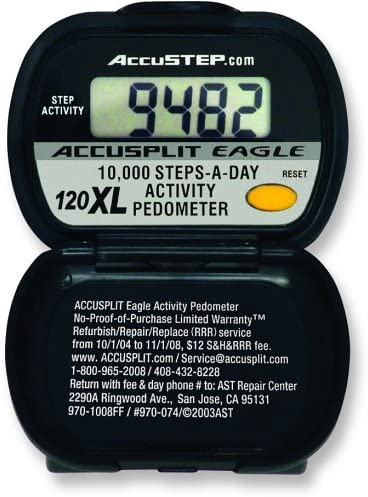 ACCUSPLIT AE120XL Certified Accurate Pedometer, Steps Activity Timer