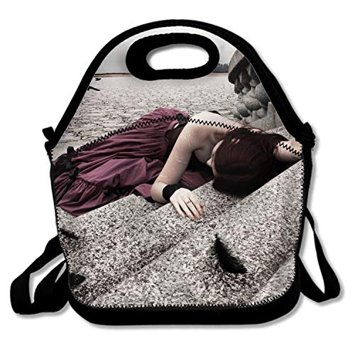 Lievon Lunch Tote Dark Emo Lunch Boxes Lunch Bags Handbag Food Storage Fits School Travel Work Outdoor
