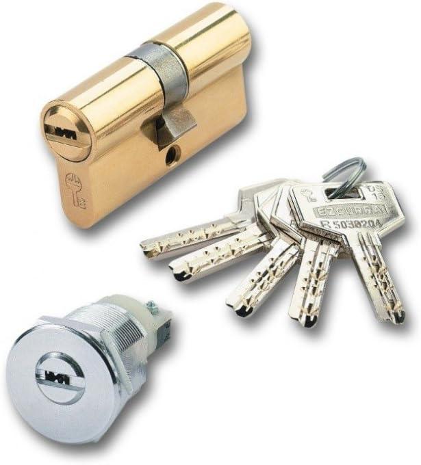 Ezcurra 5004D3 Cilindro Seguridad Latón Ds15-70 Descentrado