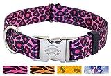 10 - Country Brook DesignPink Leopard Premium Dog Collars - Medium