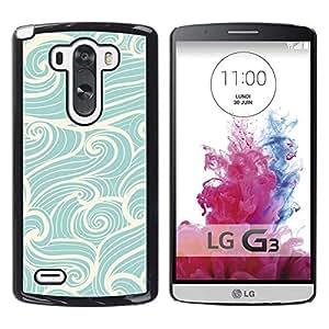 Olas de viento Surf Azul Blanco vintage - Metal de aluminio y de plástico duro Caja del teléfono - Negro - LG G3