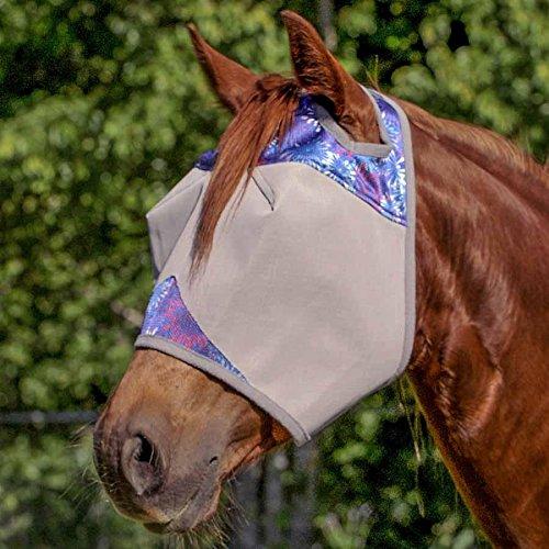 Fly Mask (Cashel Designer Fly Mask Standard Style: Purple Fireworks Size: Horse)